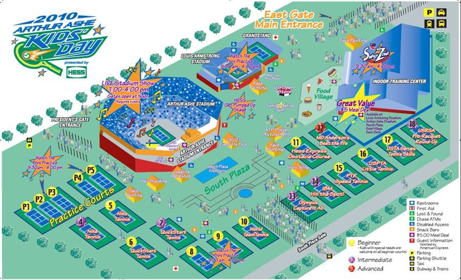 Map Of Us Open Tennis Grounds - Us open tennis parking map