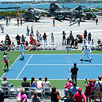 2012 Mercury Insurance Open: Aboard The USS Midway
