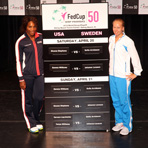 2013 Fed Cup U.S. vs. Sweden Draw Ceremony