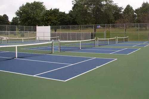 Four stand alone 36' tennis courts.