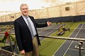 Gordon Smith, USTA Executive Director & Chief Operating Officer at the indoor tennis facility.