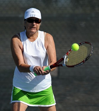 Players in action on Day 3 of the 2011 USTA League 7.0 & 9.0 Super Senior National Championships, he