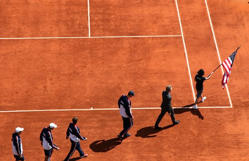 DavisCup_US_France_Day2_teamUSA_walkon