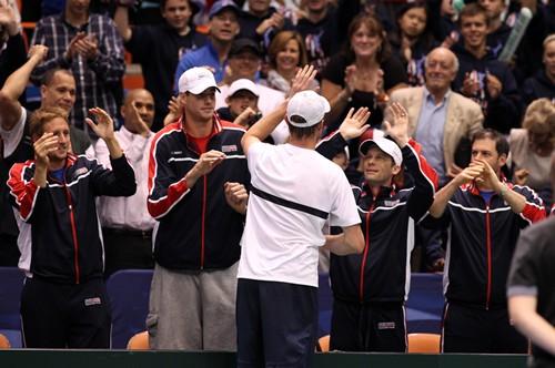 2013 Davis Cup: U.S. vs. Serbia, Day 1 Action
