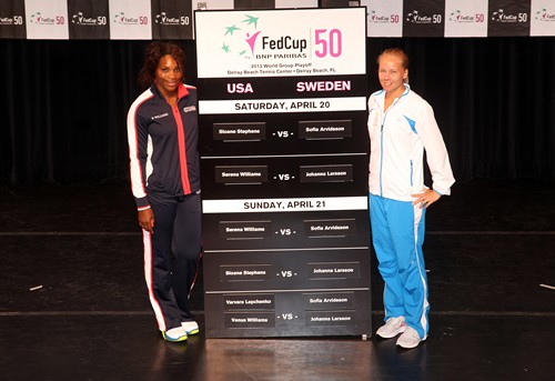 013 Fed Cup U.S. vs. Sweden Draw Ceremony