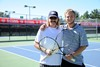 Dale Sr. and Dale Jr. Chilton play tennis to spend time together.