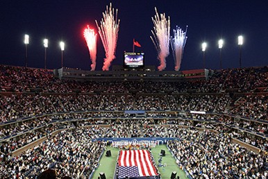 Fireworks celebration at the US Open