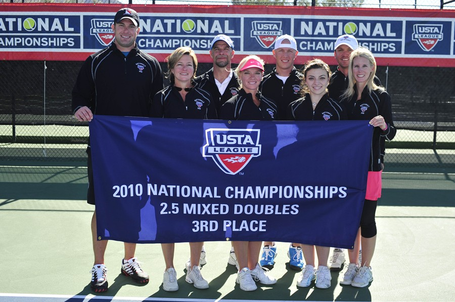"2010 USTA League 2.5 Adult Mixed Doubles National Championships 3rd Place â€"" from Mandeville, La."