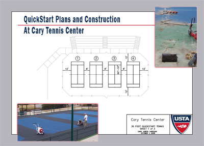 QuickStart Court Construction, Cary Tennis Center, N.C.
