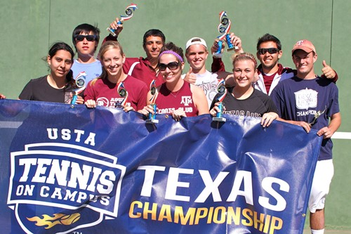 "Texas A&M ""Do It Big"" won the 2012 USTA Texas Tennis On Campus Championship with a 30-20 win"