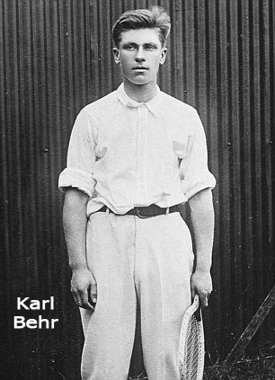 Karl Behr with racket