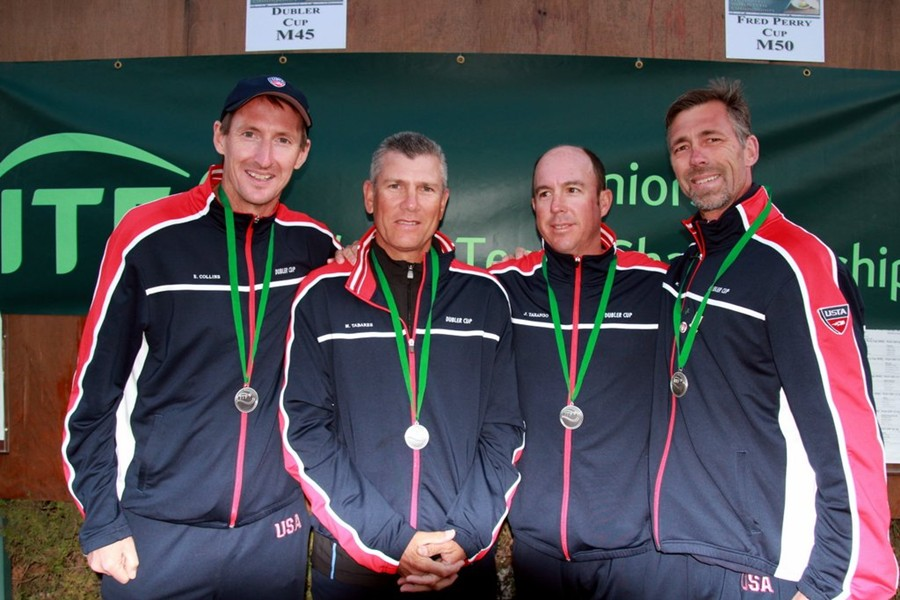 Trabert_Cup,_Eoin_Collins,_Mario_Tabares,_Jeff_Tarango,_Kelly_Ward,_with_medals