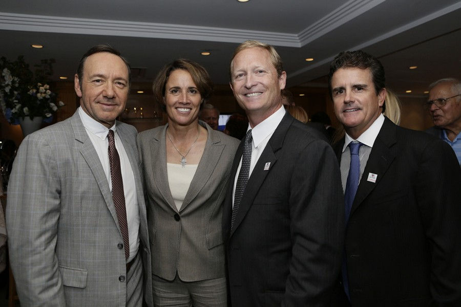 Kevin_Spacey-Mary_Carillo-Dan_Faber-Sean_Mayo_-_2013_Gala